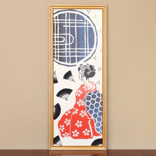 WAFUKA Tenugui Frame (gilt frame)