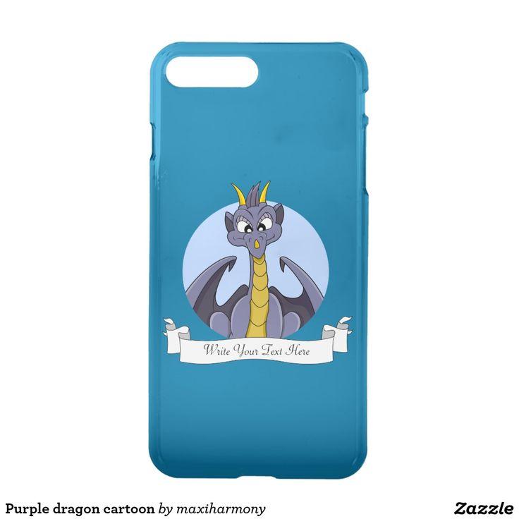 Purple dragon cartoon iPhone 7 plus case