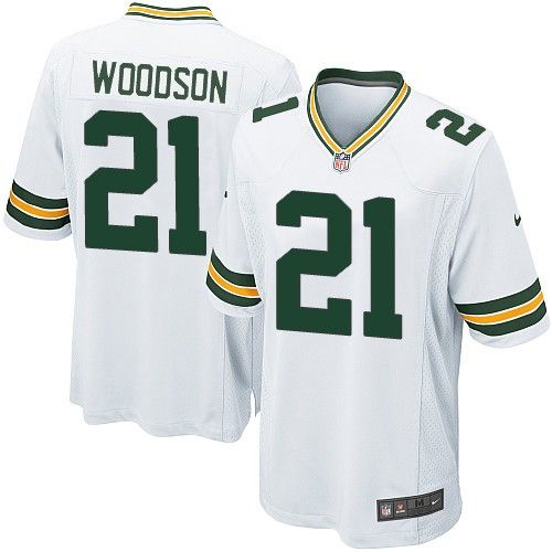 Youth Nike Green Bay Packers Charles Woodson 21 White NFL Jersey for Sale Sale