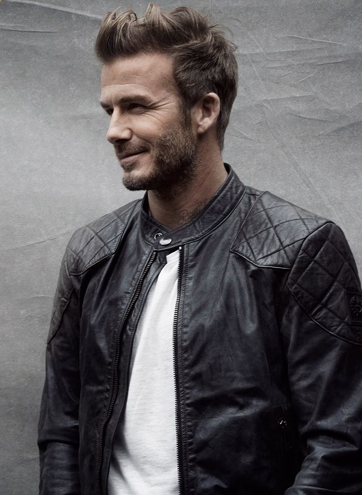 david beckham and Belstaff Available at www.BritishMotorc...