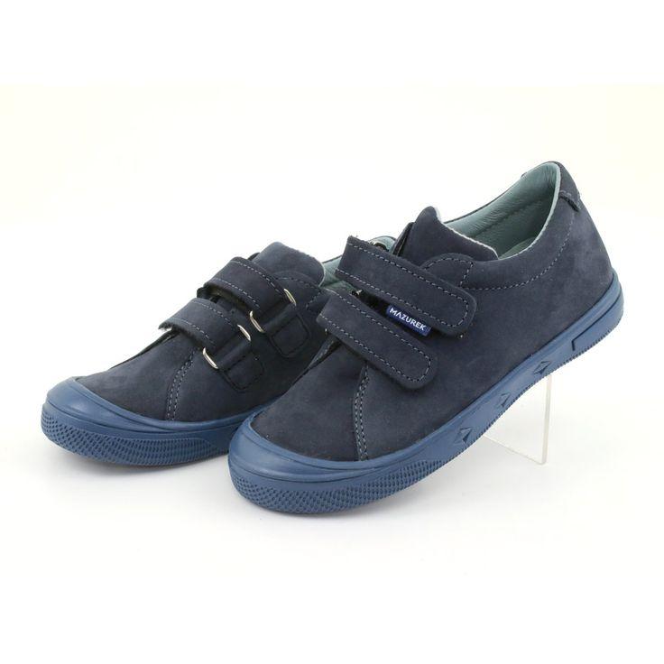 Polbuty Chlopiece Rzepy Mazurek 1267 Granatowe Boys Shoes Navy Blue Shoes Childrens Shoes