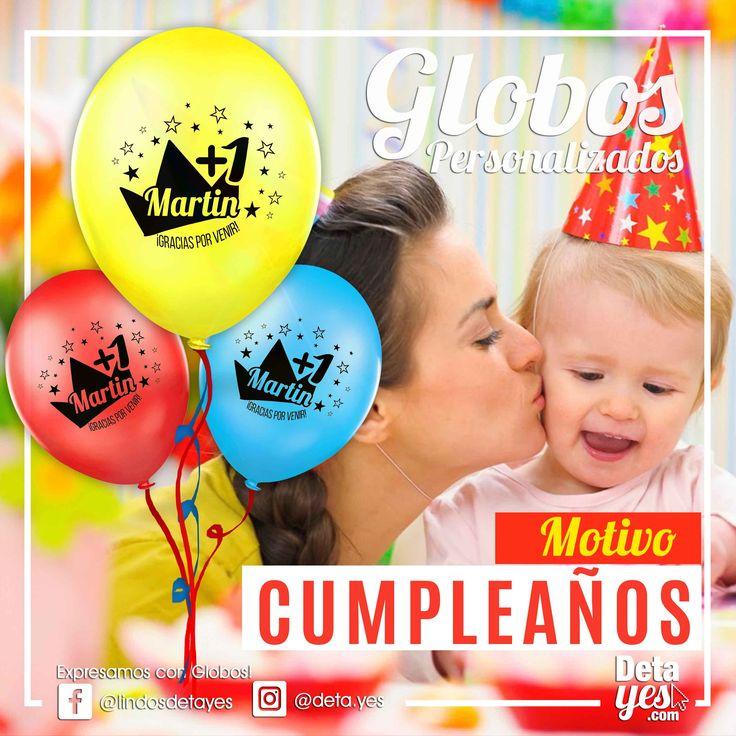 Globos Personalizados para Fiesta de Bebe de 1 Año,   Somos @deta_yes  , Envíos a Toda Colombia, Pedidos 31856657519