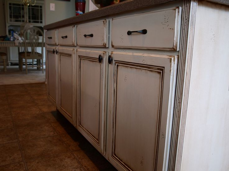 How To Do An Antique Stain On Cream Cabinets