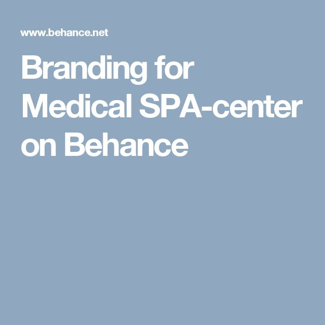 Branding for Medical SPA-center on Behance