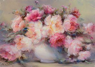 Картина пионы «Розовые пионы»--БАБИЧ ВЛАДИМИР -