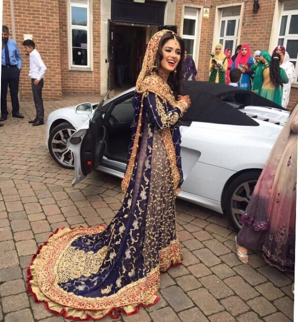 Apart from the frills right at the bottom, lengha/bridal outfit is really stunning