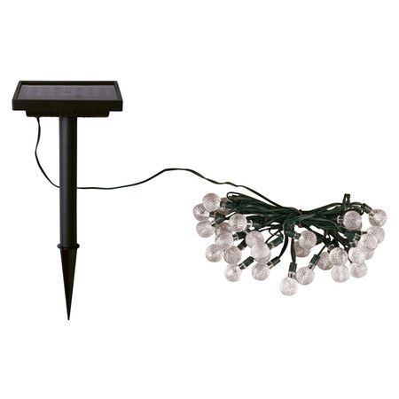 Solar string lights. Awesome! No more cords to stretch across the yard!