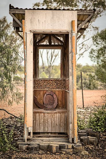 "Don't have a board to Pin this, but too ""awesome"" to ignore, so ""pot"" ing it is. Outback Loo - Lightning Ridge - NSW by Frank Moroni"