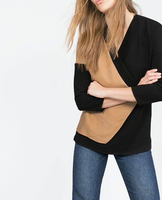 COMBINED TUNIC TOP from Zara