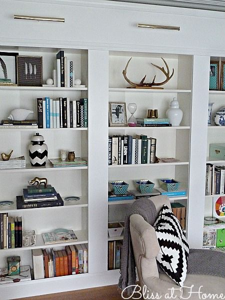 Today I'm sharing our library wall that we made with IKEA BILLY bookcases. I have always wanted a library in my house. We just don't have the space to dedicate an entire room to a libra…