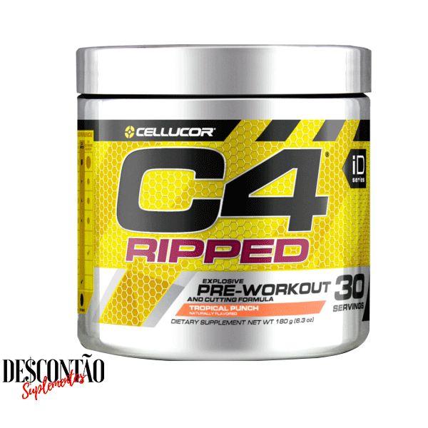 C4 Ripped Cellucor é um suplemento pré treino que emagrece, é bom para ganho de massa muscular magra e serve para dar mais energia nos treinos. Leia: Como tomar, resenha, para que serve. C4 Ripped comprar com menor preço no Brasil.