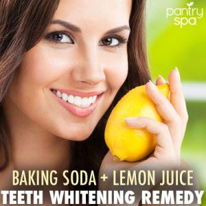 Dr Oz: Teeth Whitening Home Remedy: Baking Soda + Lemon Juice - Pantry Spa