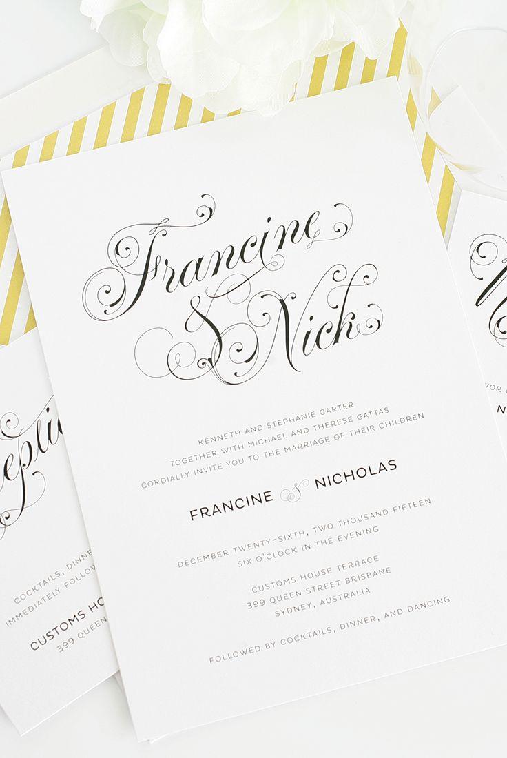 675 best Wedding invitations images on Pinterest | Bridal ...