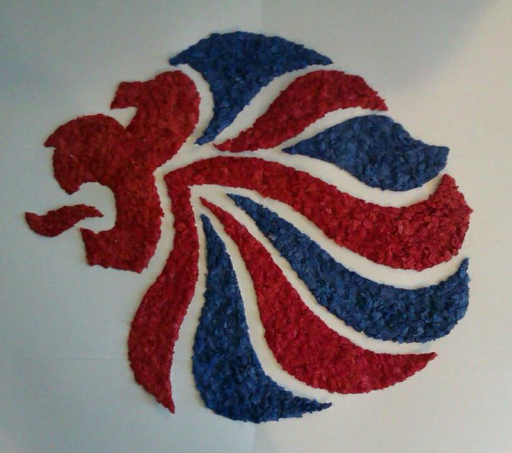 Team GB logo - scrunched tissue picture created at 'On Your Marks' holiday club 2012