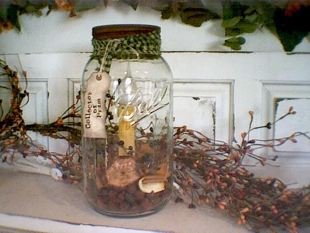 Half Gallon primitive mason jar light