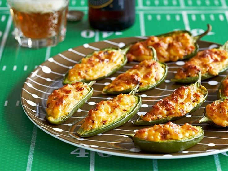 Smoked Gouda-Chorizo Jalapeno Poppers : Make jalapeno poppers a little easier by following Sunny's recipe and baking them in the oven instead of deep-frying. They leave nothing to be missed though with smoked Gouda, red onions and spicy Mexican sausage.
