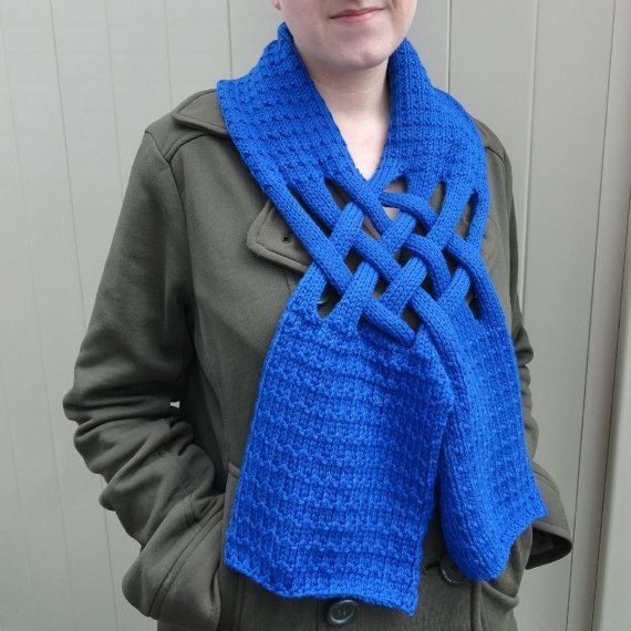 Hand Knit Blue Velvet Unisex Woven Popover by ReasonablyRustic, $40.00