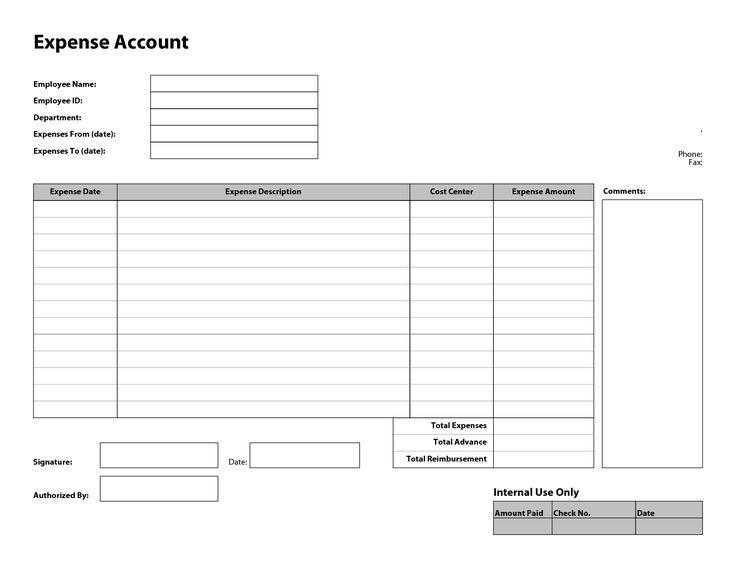 Employee Expense Report