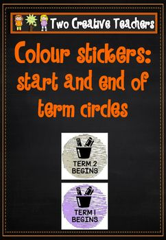 Two Creative Teachers - School Date MarkersThese labels can be printed on sticker labels. Stick them in planners or diaries to help you keep organized. They can also be used for student diaries. Use them to mark the start and end of each Term. If you would like a custom order please contact us at twocreativeteachers@gmail.com.
