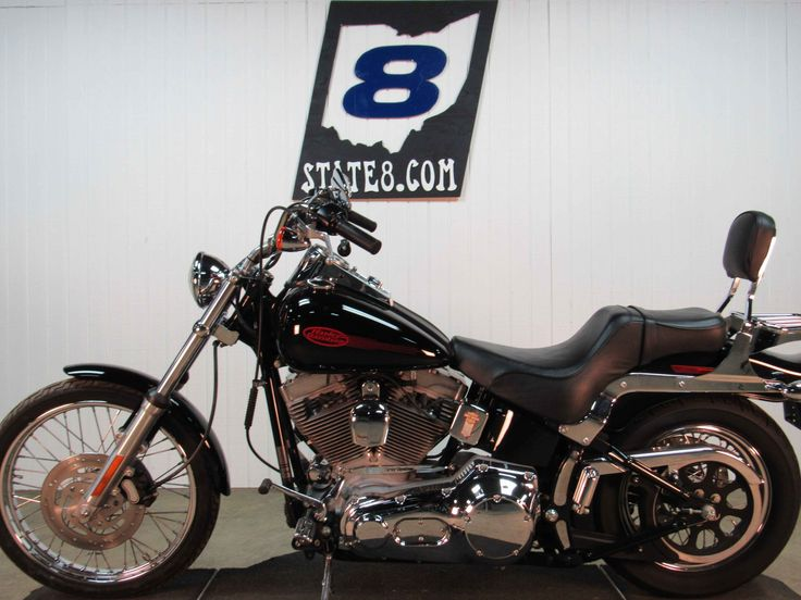 Used 2005 Harley-Davidson FXST - SOFTAIL STAND Motorcycles For Sale in Ohio,OH. 2005 HARLEY-DAVIDSON FXST - SOFTAIL STAND, python exhaust, passenger backrest w/chrome luggage rack,custom Harley pegs front and rear and chrome spoke wheels