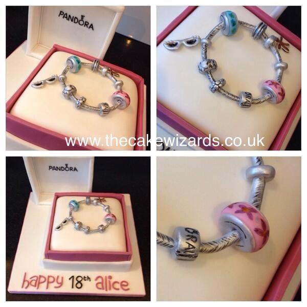 The Cake Wizards @kellyemmaellis   Pandora bracelet cake