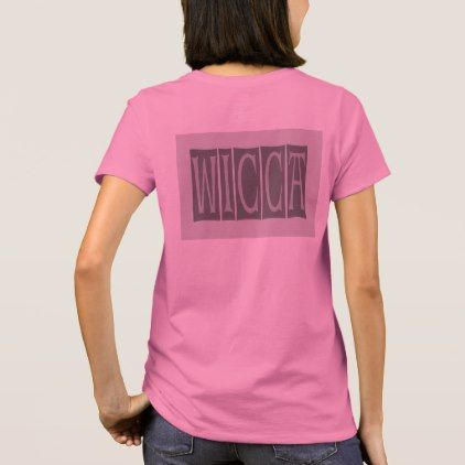 Wicca women pink shirt back - calligraphy gifts custom personalize diy create your own