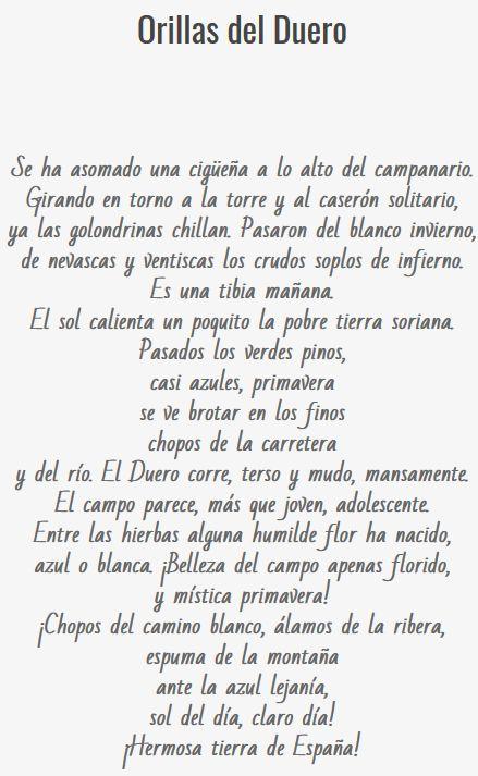 """Primera etapa: Modernismo simbolista. """"Orillas del Duero"""" es un poema perteneciente a """"Soledades, galerías y otros poemas"""" (1907). Lo hemos escogido porque nos encandila la manera de describir el río, siempre con un matiz de melancolía."""