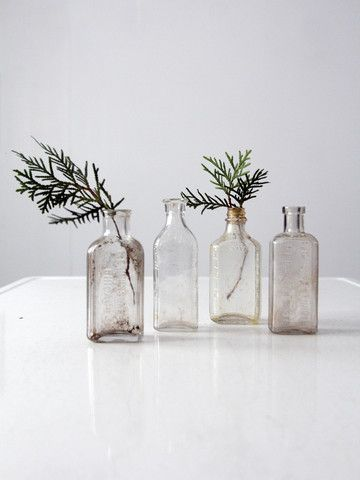antique apothecary bottle collection - 86 Vintage