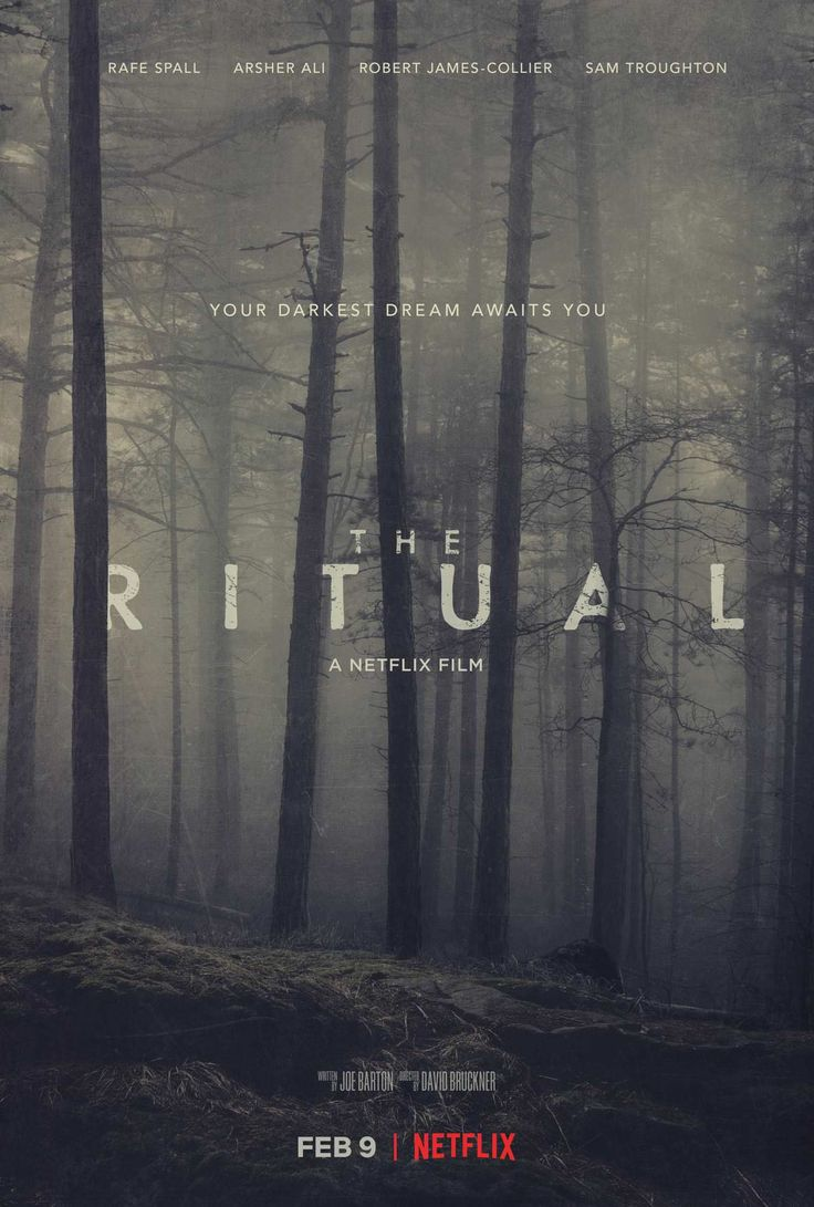 Movie Poster - 'The Ritual'   Rafe Spall Arsher Ali Robert James-Collier & Sam Troughton