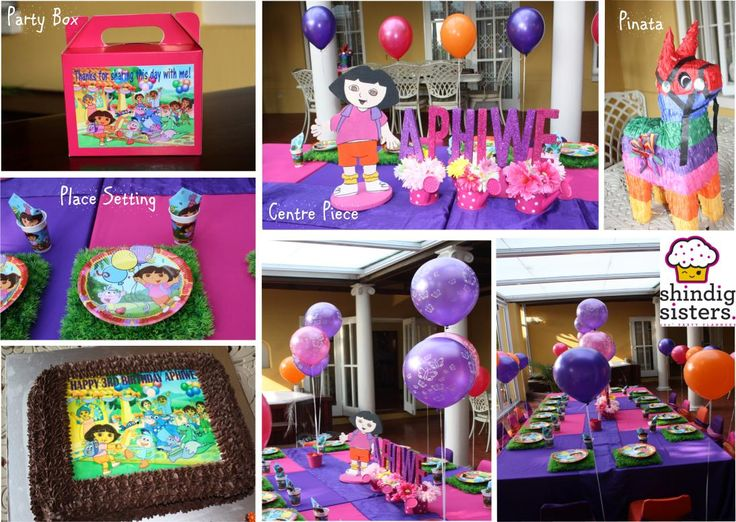 A Dora Explorer Party set up by Shindig Sisters party planners