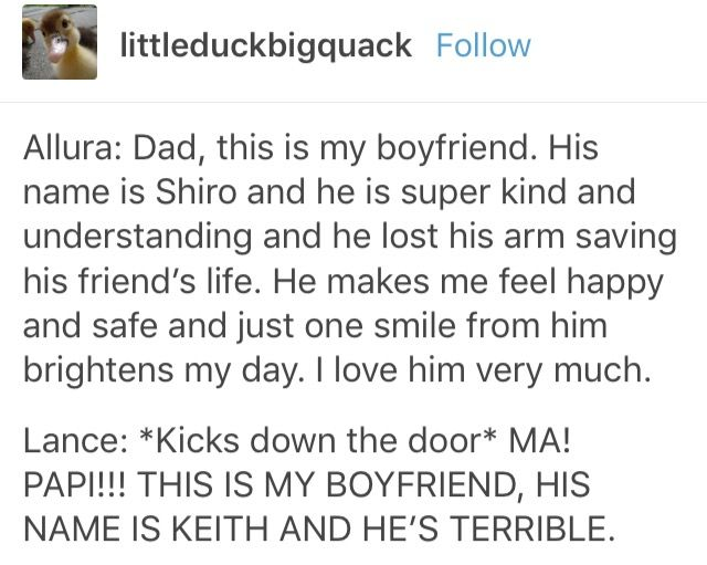 shiro single parents Who's the teacher and who's the single parent:  who's the teacher and who's the single parent teacher shiro and single parent lance who has a small.