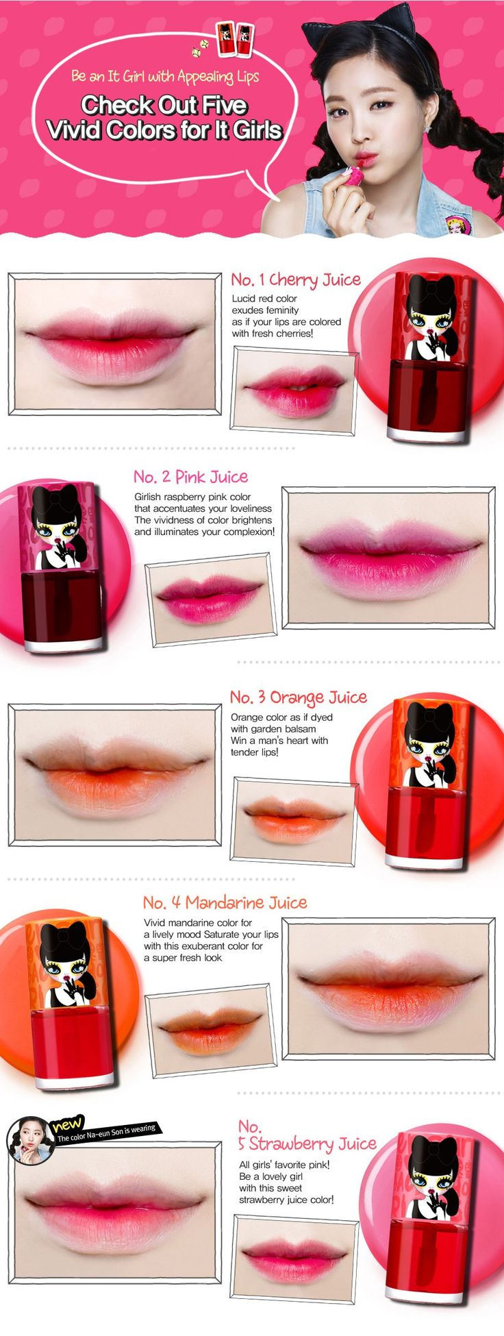 Peripera Peri's Tint Water Lip Balm, Strawberry Juice, 0.27 Ounce