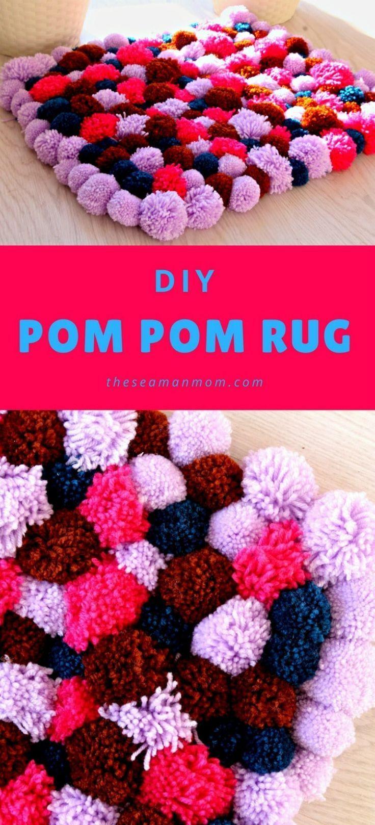 With Yarn Diy Crafts 40 Images Ideas Diy Pom Pom Rug Yarn Diy Pom Pom Rug