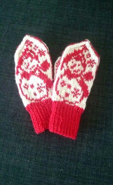 Snowman mittens kids