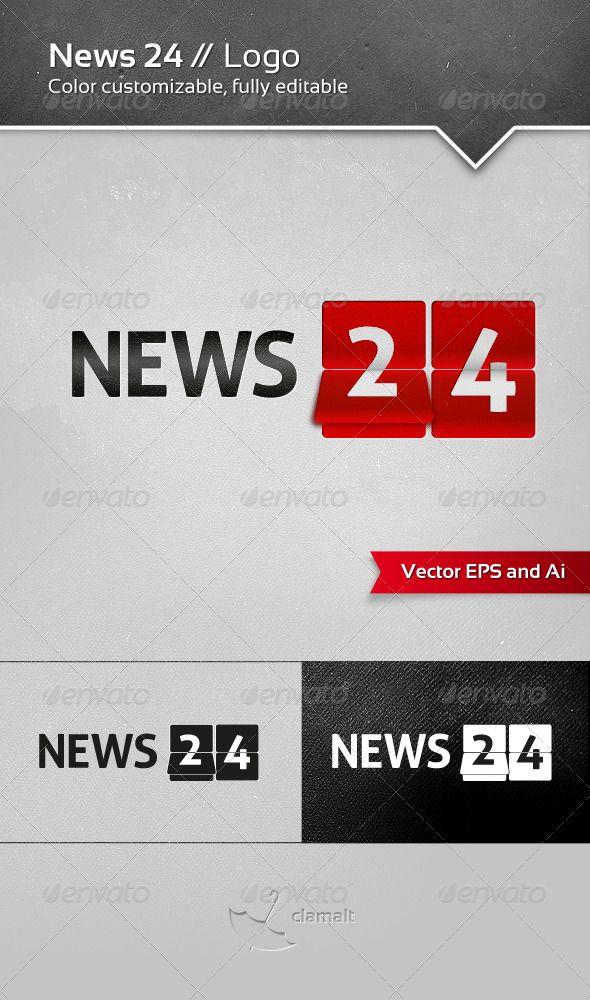 News 24 Logo - GraphicRiver Item for Sale