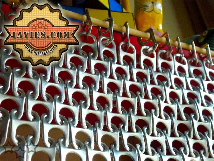 Como hacer una cortina con anillas de latas for Como hacer cortinas corredizas