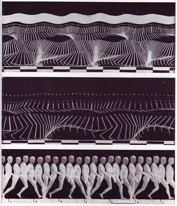 "One of the foundational images of motion capture, Etienne Jules Marey, chronophotographs from ""The Human Body in Action,"" Scientific American (1914). By this time Marey had migrated from pure photography to abstraction, where strips of highly reflective material were applied to the limbs of a subject otherwise draped in black, so only the key elements of #motion were registered. The checkerboard allowed speed to be measured by also capturing a clock. #experimentsinmotion"
