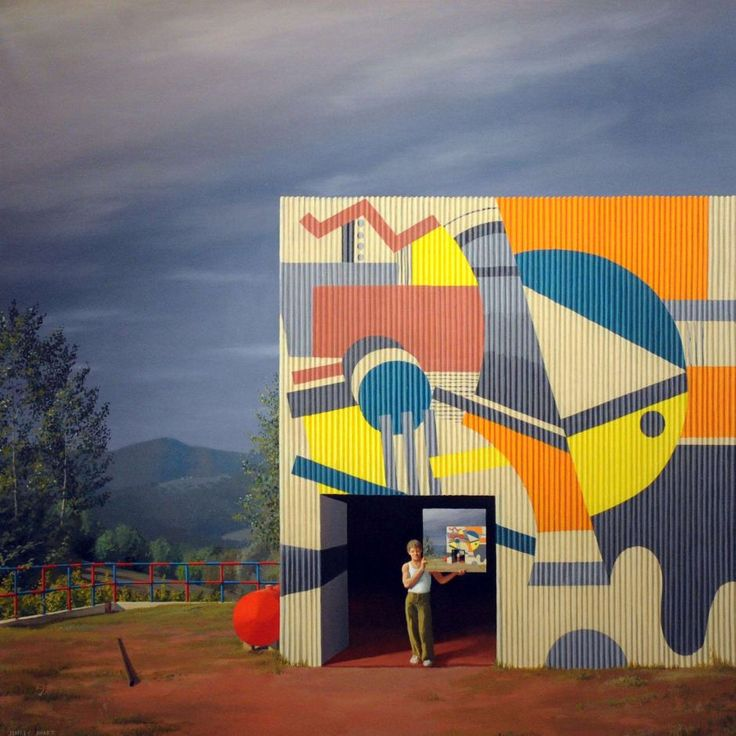 Jeffrey Smart's Painted Factory, Tuscany 1972