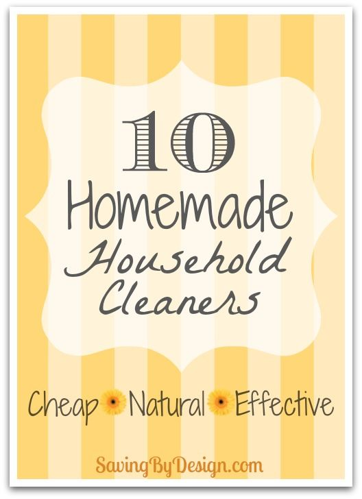 Here are10 homemade household cleaners you must try...I bet you'll be looking for more after you see how great these work and how much you save! | SavingByDesign.com #DIY
