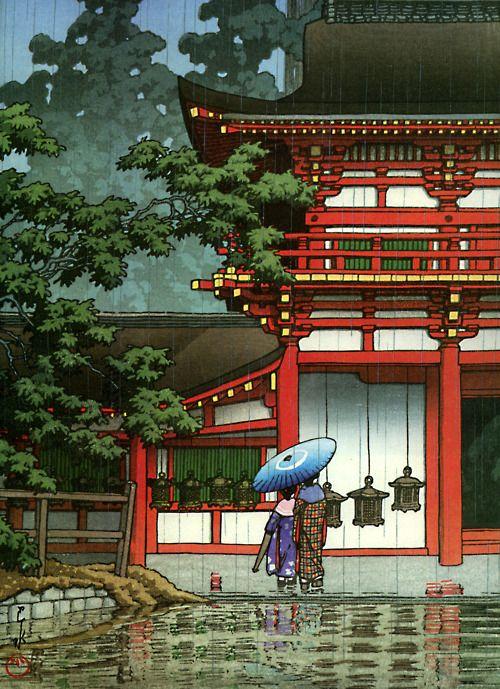 KAWASE Hasui 川瀬 巴水 (1883-1957) Ukiyo-e: Kasuga Shrine, Nara, 1933