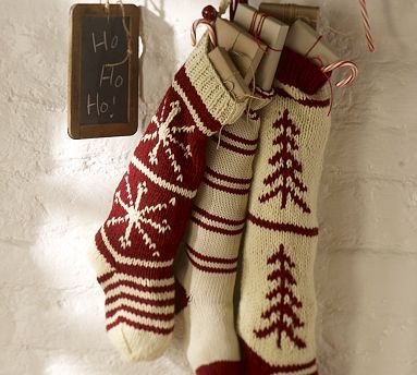 Lovely knit Christmas stockings. Wish I was this talented