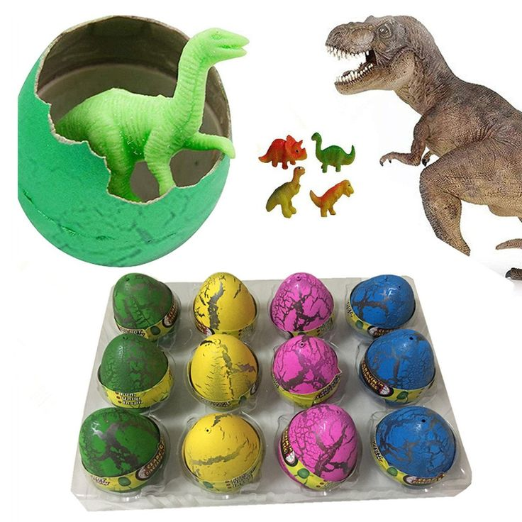Super Large Size - 12pcs Crack Easter Dinosaur Eggs Hatching Toy Growing Pet with Mini Toy Dinosaur Figures Inside. Novelty Dinosaur Eggs - Just put the egg in a bowl of water and watch it hatch out of the egg, there will be a mini dinosaur figure come out. Patience for Kids - Takes 12-24 hours for the egg to break through the shell, after 1-2 days the mini dinosaur can grow bigger and bigger. More Than One Toy - If you not hatch it, it's an egg toy, even as the easter eggs; when hatch…