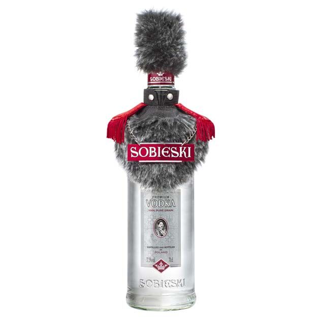 Sobieski #vodka - promotional #packaging with a russian inspired fur cut and hat. This one is so cool PD