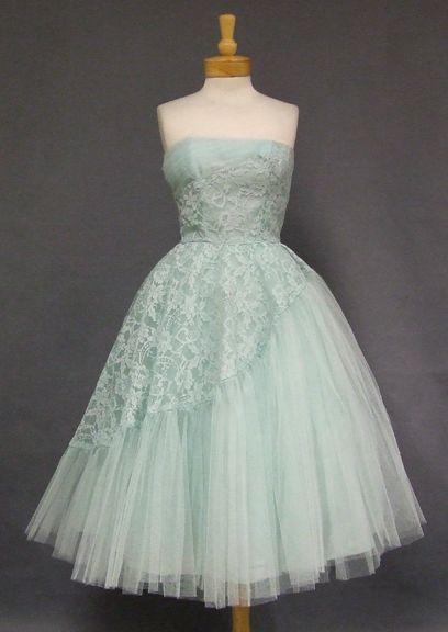 Vintage Clothing, Costume Jewelry, Fashion Accessories VINTAGEOUS.COM 1950s prom dress