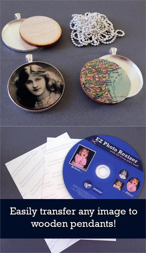 Instant Wood Pendant Picture Transfer Kit