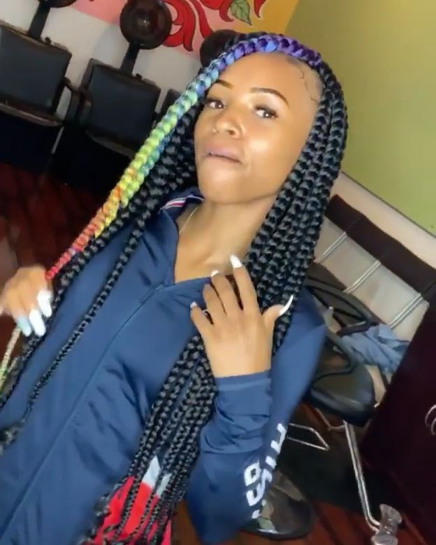 Follow Pindiscovery For More Pins Braidedhairstylesforblackwomen Follow Pindiscovery For More In 2020 Black Girl Braided Hairstyles Colored Braids Braided Hairstyles