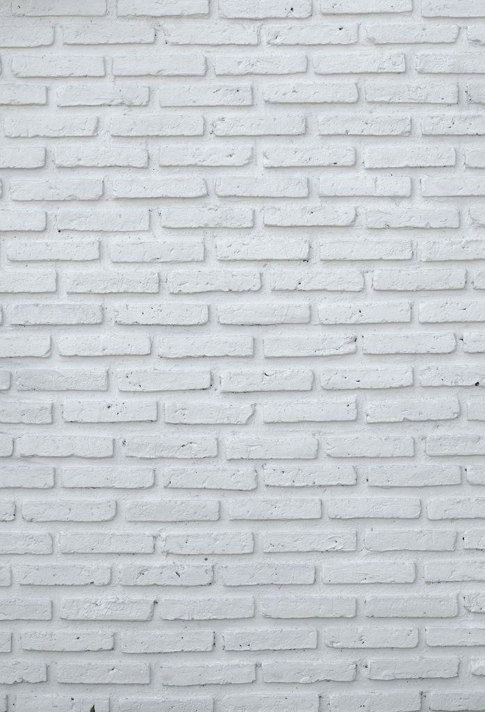 White Brick Backdrop Photography Deco Background U0040