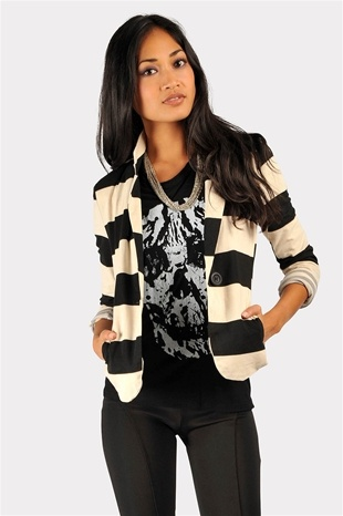 must have basic...Theory Striped Blazer - White/Black