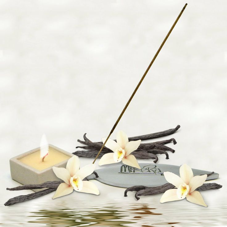 Vanilla Frost scented Incense, Steel Holder and Candle Gift Pack from MiKeRa
