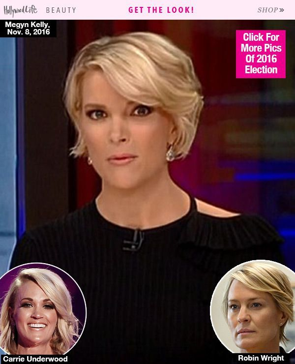 Megyn Kelly's Sideswept Hair During Election — Like Robin Wright In 'House Of Cards'